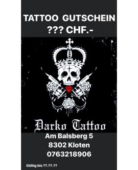 Tattoo Gutschein 50 CHF.-